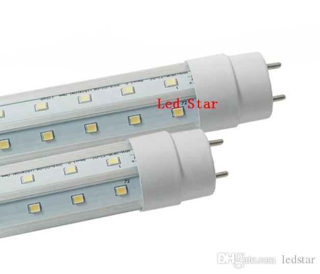 tubi a forma di v luci a led 4ft 5ft 6ft 8ft t8 g13 doppie linee tubi a luce led illuminazione più fredda DLC AC 85-265V