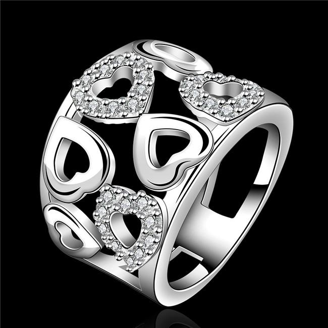 Fantastic 2018 Romantic Design 925 Sterling Silver Heart Shaped Ring With  DJ16