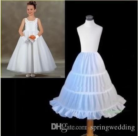 High Quality Three Circle Hoop Children Kid Dress Slip White Ball Gown Flower Girl Dress Petticoat CPA306
