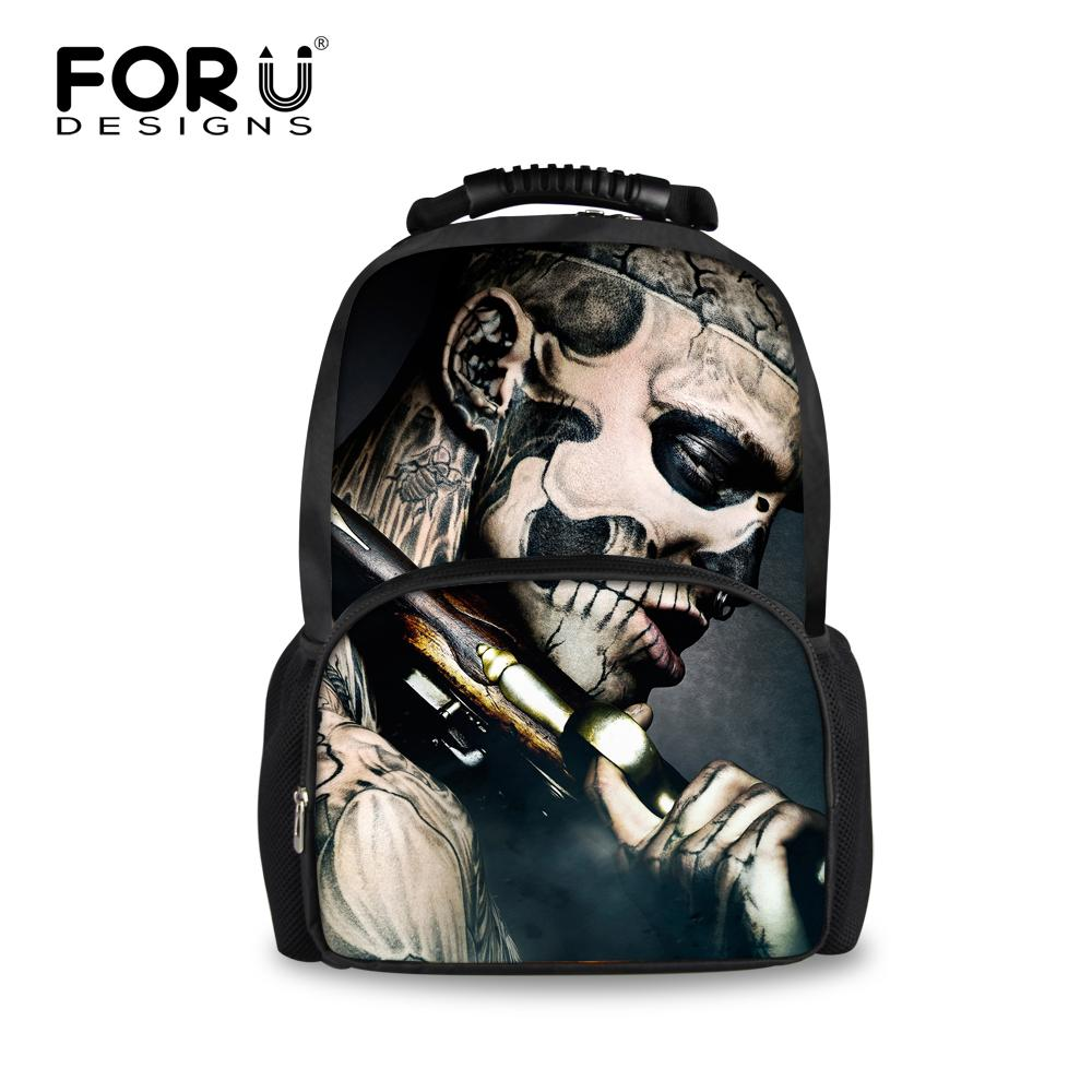 652d92f652ff Uggage Bags Backpacks Men Backpacks 3D Punk Skull Printing Backpack ...