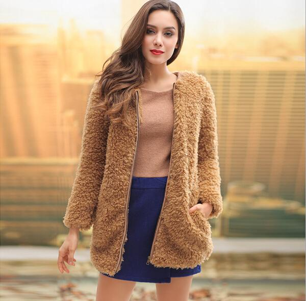Womens Cardigan Cashmere Clothing 2015 Women's Autumn/Winter Newest Fashion Warm Long-Sleeved Cashmere Cardigan Jacket Coats Plus Size Coat