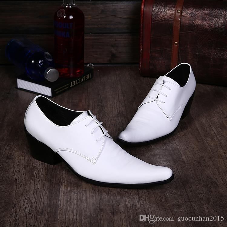 Classic Groom Wedding Shoes Male Ventilate Pointed Toe Lace-Up Oxfords Mens British Style Party Genunie Leather Burgundry White Italian