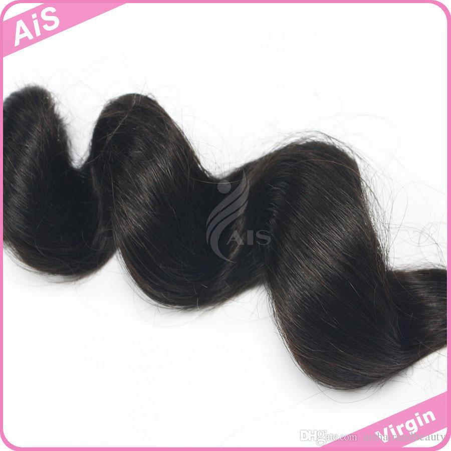 3 قطع نمط جديد غير المجهزة 7a البرازيلي الهندي الماليزي بيرو الشعر 3 حزم فضفاض موجة الشعر ينسج آلة صنع الإنسان الشعر