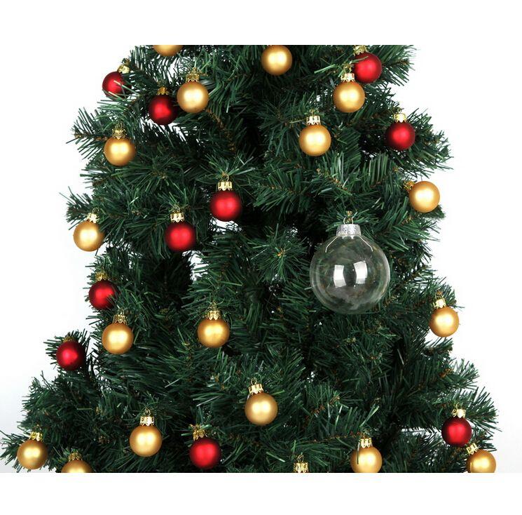 "Wedding Bauble Ornaments Christmas Xmas Glass Balls Decoration 80mm Christmas Balls Clear Glass Wedding balls 3"" / 80mm Christmas Ornaments"