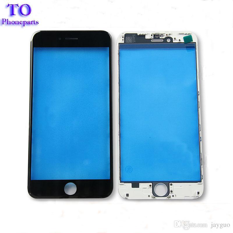 Ön Dokunmatik Ekran Paneli Dış Cam Lens ile Soğuk Pres Orta Çerçeve çerçeve iPhone 5 s 6 6 s artı 7 artı