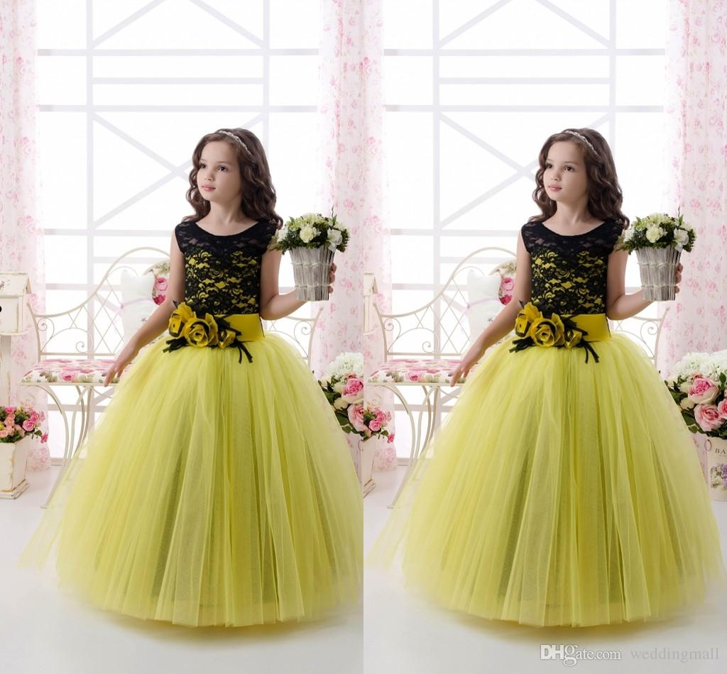 2016 Kelly Lace Tulle Ball Gown Flower Girl Dresses Vintage Child ...