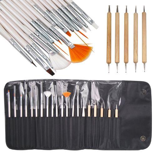 Nail Art Salon Design Painting Dotting Detailing Pen Brushes Bundle