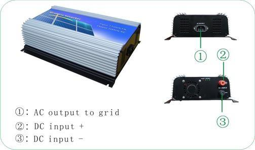 10.5-30Vdc 600W Solar Grid Tie Inverter Output 190-260Vac,Pure Sine Wave power inverter For Home Solar System