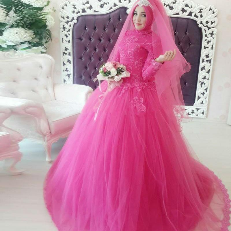 Turkish Islamic Style 2016 Muslim Wedding Dresses Couture With Long ...