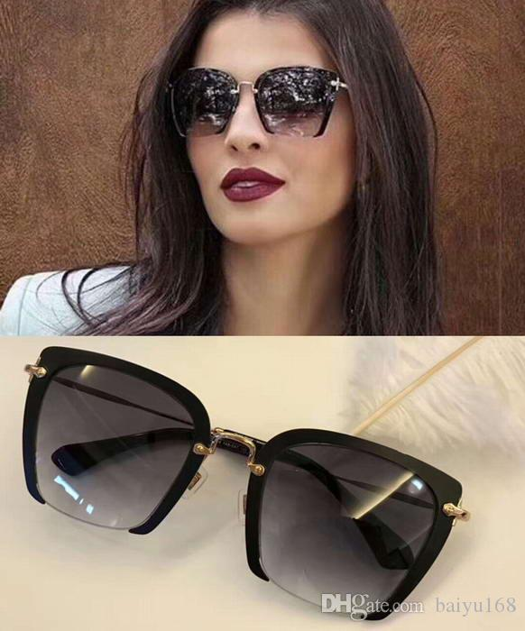 ab2f9df91d Women Designer 52RS Black Gold Grey Sunglasses Sonnenbrille 52mm MU 52RS  Fashion Brand Sunglasses New With Box Eyeglasses Sunglasses Hut From  Baiyu168