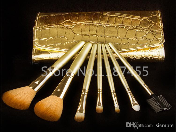 Professional Makeup Cosmetic Brush set cerdas cepillo de oro y kit de manija cepillo 20 piezas / lote + regalo