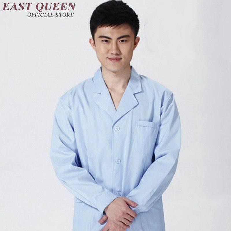 2018 Medical Clothing Men New Hospital Clothing Male Long Sleeve ...