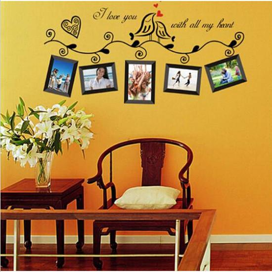 Fashion Home Decoration Art Photo Frame Vinyl Wall Paper - Wall decals 2016