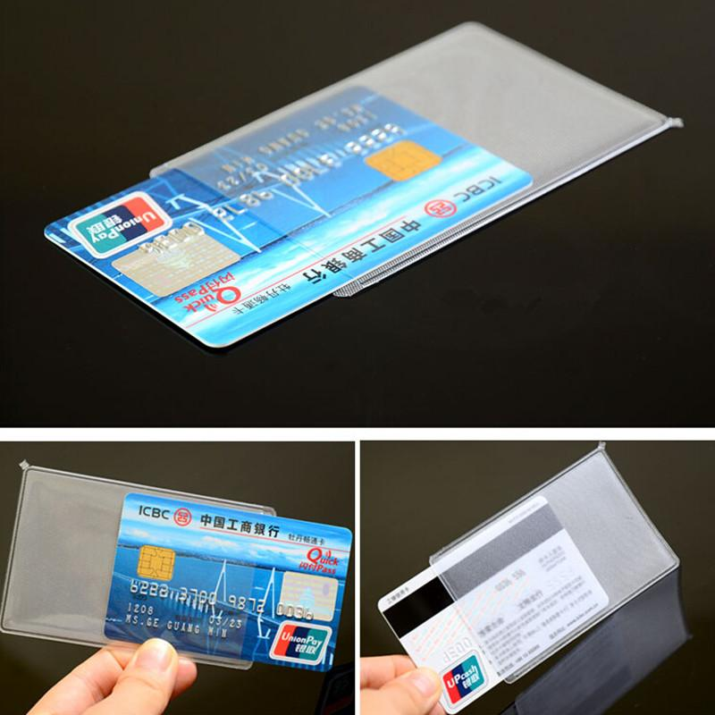 Wholesale 6*9.6cm Matte Clear Plastic Credit Card Holder Sleeve ...