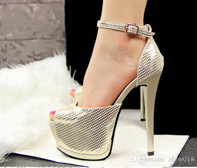 Open Toe Women'S Sandals 2017 New Style Platform High Heels For ...