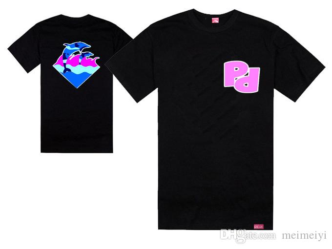 2017 New Pink Dolphin South Lovers Design Dolphin Male Hiphop T ...