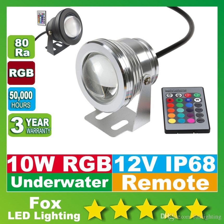 Led Lamps Black Cover 10w Convex Lens Underwater Led Lamp Rgb Underwater Led Lights Ip68 Led Underwater Pool Light 100% Original