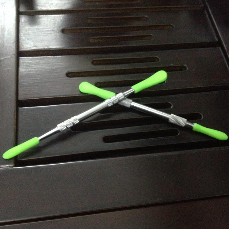 Goedkoopste DABBER-tool met Silicone Top DAB Wax Tools Metal DAB Tool 121mm VAX Herb Vaporizer Tool