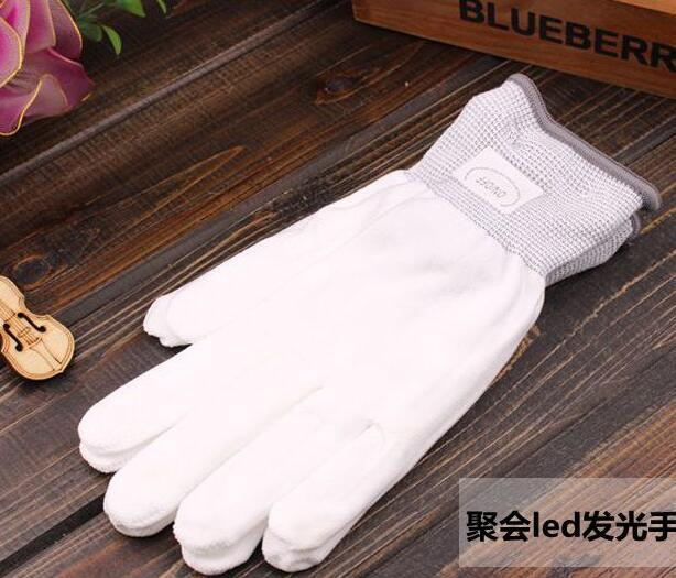 2015 new Halloween christmas hot selling LED flash gloves Dancing glow gloves Concert noctilucent gloves Flash gifts 0367