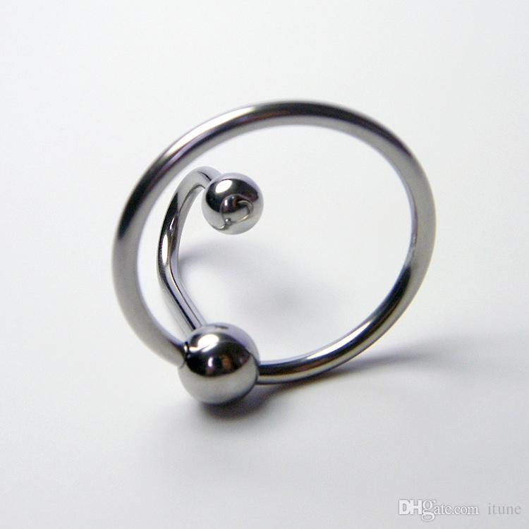 Novo design de Aço Inoxidável Glans Anel Penis e Plugue Uretral de Metal Extensão Uretral Inserção Uretra estimulante Gay Jogos de Sexo brinquedo A040C