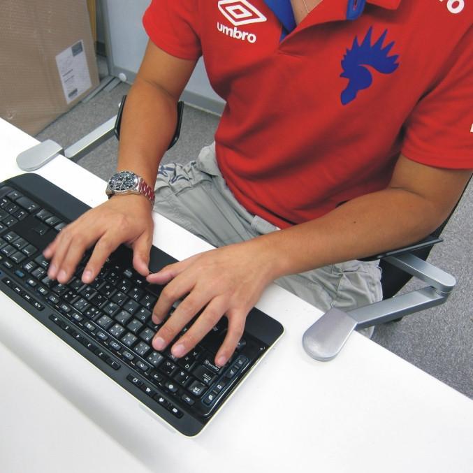 Apoio do cotovelo do suporte da mão do suporte do cotovelo de alumínio Computador de secretária Suporte universal do apoio Restman do braço dos apoios de Mini Ergonomic evita o pneu