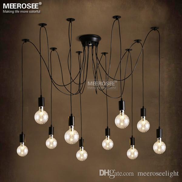 Modern decoration chandelier lighting fixture American style Metal Plastic suspension lamp fancy hanging light vintage lustres
