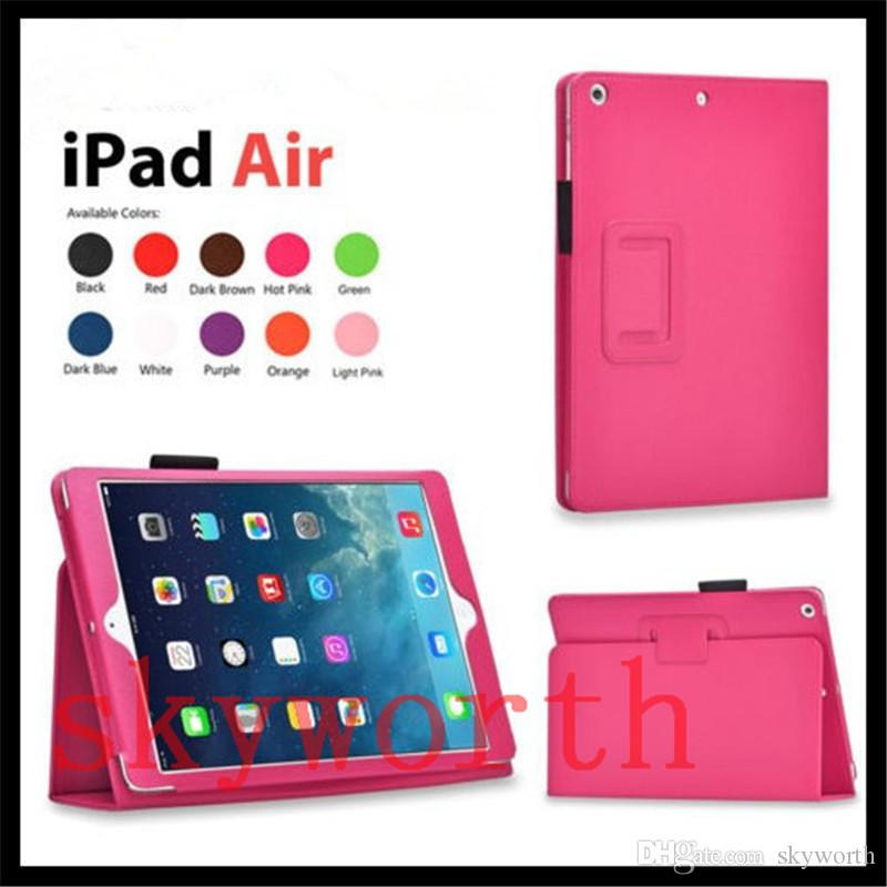 for iPadPro 9 7 2 3 4 5 6 ipad air 2 3 mini 4 Leather Case Cover Folio Flip  Stand 11 Colors
