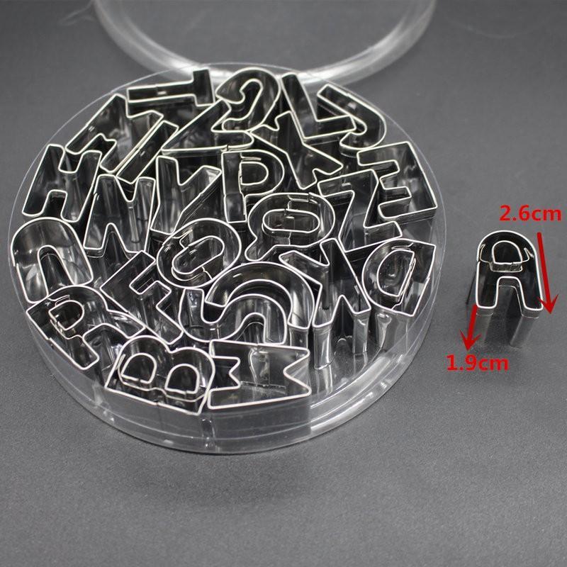 26-Piece Decorating Tools Fondant Cutter Set Alphabet Letter Cookie Cutter Set TT110