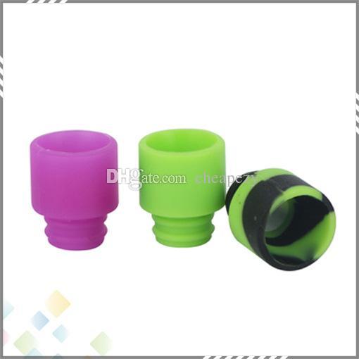 Colorido descartável Silica Gel Drip Tip Silicone 510 Bocal largo Bore E Cigarette ajuste RDA Atomizador Melhor qualidade DHL grátis