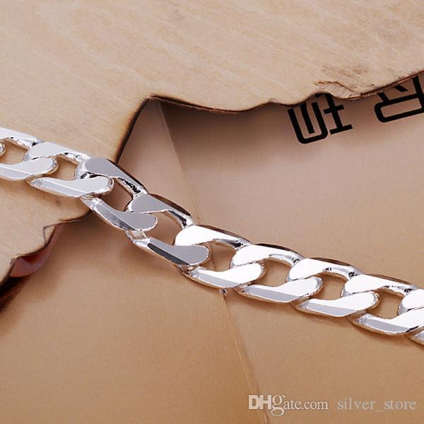 بيع الساخنة أفضل هدية 925 10M نصف جانبية سوار الرجال DFMCH262، الأزياء 925 رابط الفضة مطلي سلسلة الأساور درجة عالية