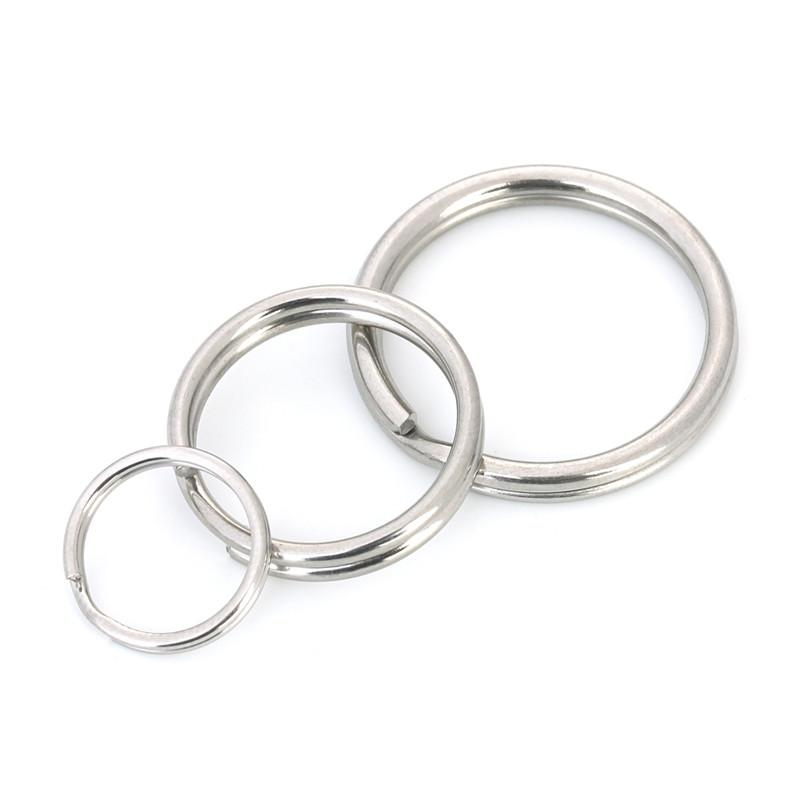 2019 LINSOIR 13mm 20mm 25mm Split Key Ring Key Chains Stainless Steel  Silver Color Keychain Keyrings Diy Jewelry Making From Heywood 394e693fc790