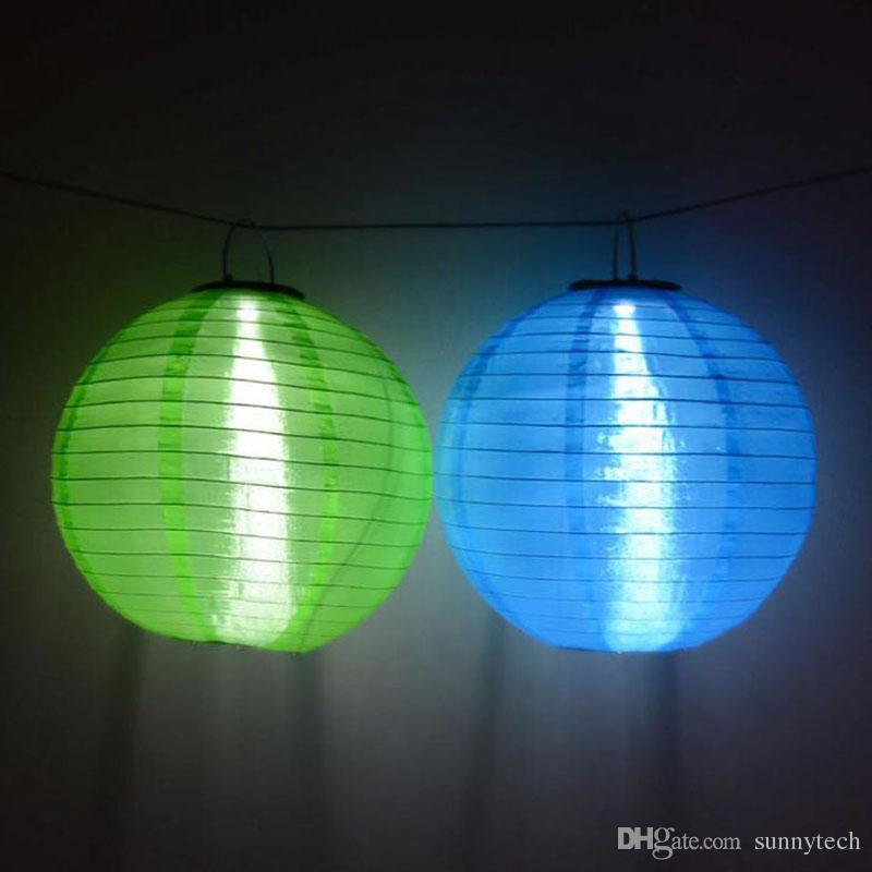 عيد الميلاد فانوس تعمل بالطاقة الشمسية الصمام عطلة معلقة الفوانيس أقمشة غير المنسوجة مصباح LED للماء لحفل الزفاف ZA5299