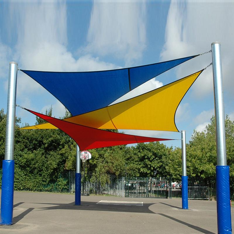 new triangle sun shade sail cover size 5m5m5m top garden awning shelter waterproof garden pool sun shade sail from aimee518 dhgatecom - Sun Shade Sail