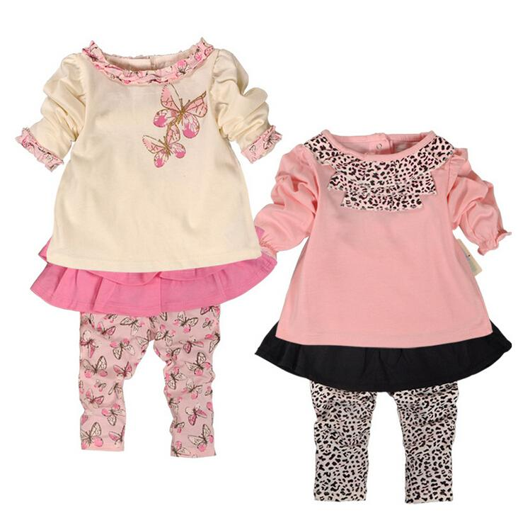 df7242031 2019 New Spring Baby Girl Clothes Set Girl Top+Skirt Pant 100 ...