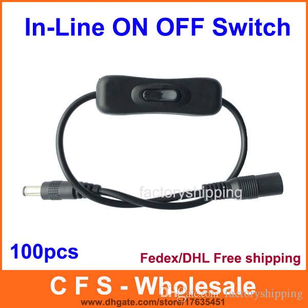 2018 In Line Power Switch On/Off 2.1mm/5.5mm Cable Jack Dc Plug 12v ...