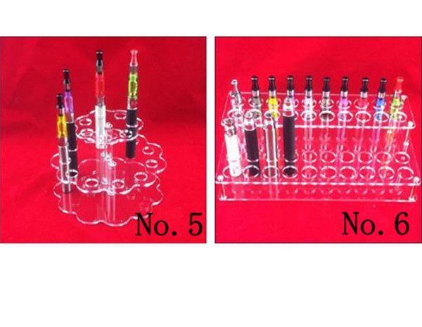 Acrílico e cig Display Stand Soporte de cigarrillo electrónico Estante Holder Rack para cigarrillo electrónico e-cig ego Batería Vaporizer ecigs MOD Drip Tip