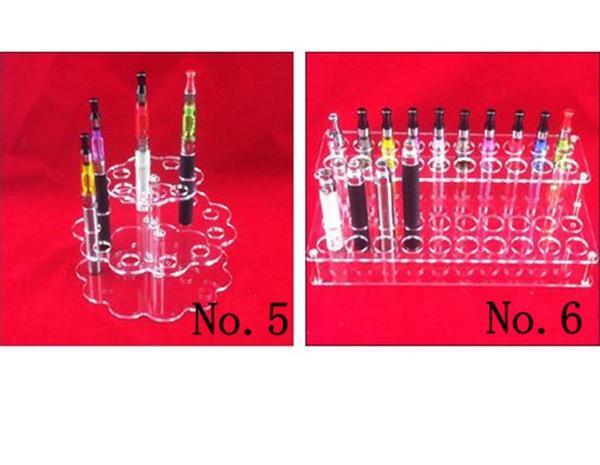 Akrilik e çiğ Vitrin Standı Elektronik Sigara Standı Raf Tutucu Raf e sigara için e-çiğ ego Pil Buharlaştırıcı ecigs MOD Damla İpucu