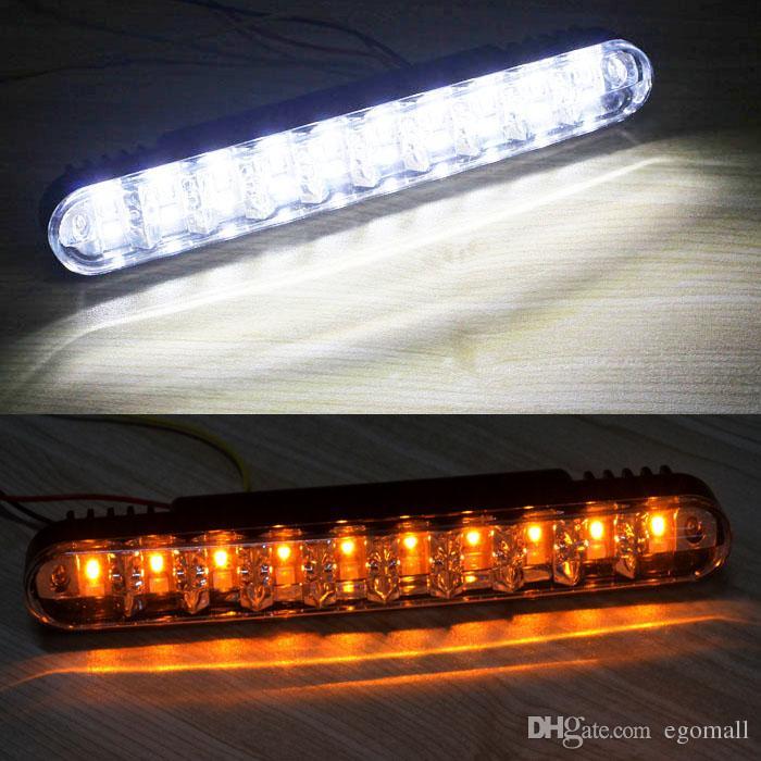 Hot 2x 30 LED Car Daytime Running Light DRL Daylight Lampada con indicatori di direzione Spedizione gratuita
