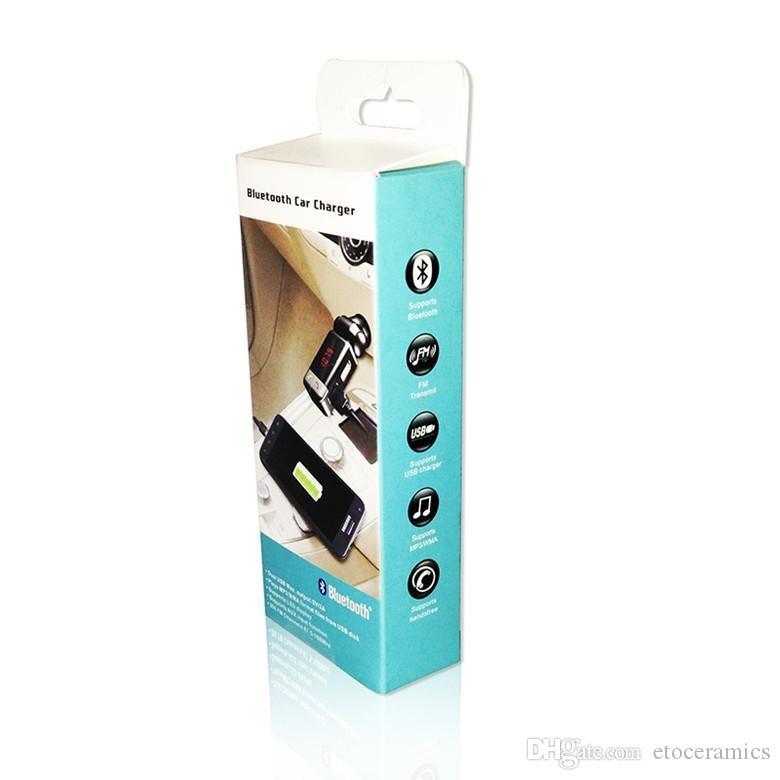 Mini Billaddare Bluetooth Handsfree med dubbla USB-laddningsport 5V / 2A LCD U Disk FM Broadcast MP3 AUX BC-06