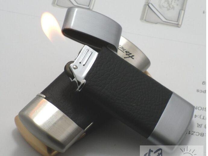 Encendedores genuinos honestos encendedor de gas encendedores a prueba de viento encendedor de cigarrillos rueda encendedor encendedor de cuero BCZ307-2