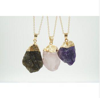 Toptan-Moda özel Doğal Taş Kadınlar Takı Pembe Kristal Gem Taş Kolye Druzy Drusy Geode Akik Opal Kolye Kolye