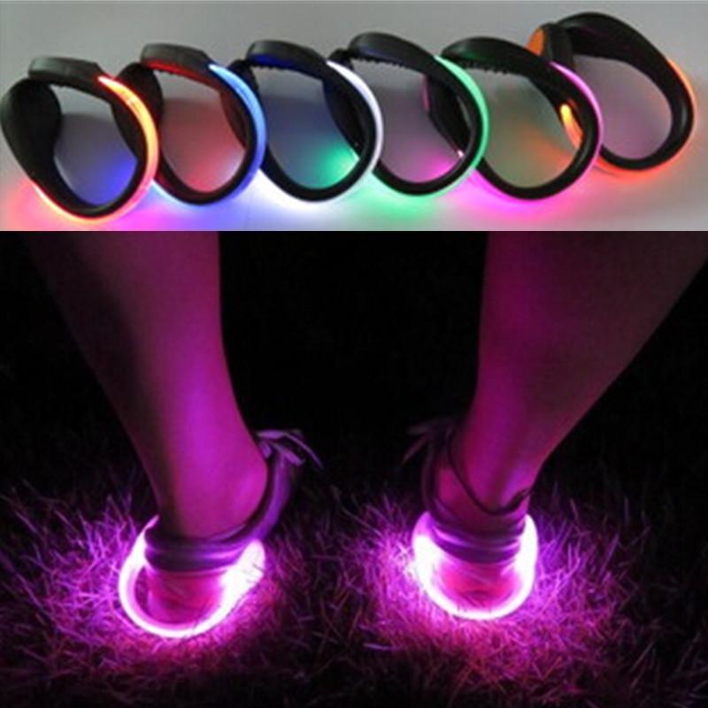 2017 multicolor portable shoes safety lights for running jogging walkers shoe. Black Bedroom Furniture Sets. Home Design Ideas