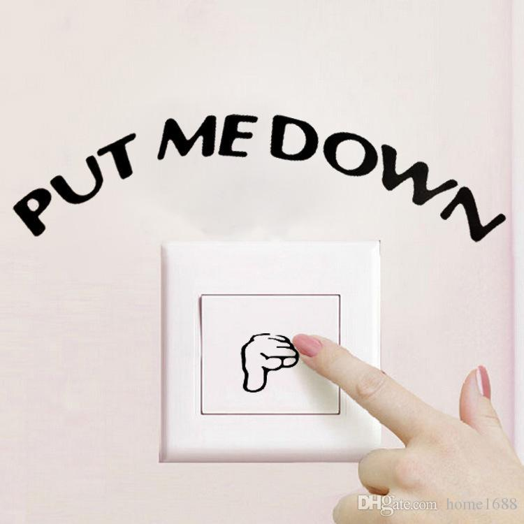 The New Dispenser Faucet Light Switch Wall Stickers Toilet Put Me ...