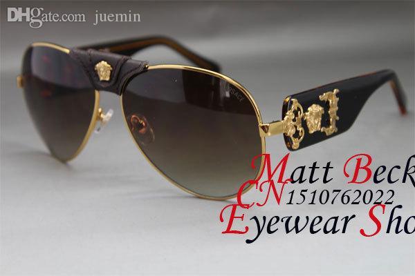7913dbae59ac2 Compre Atacado Atacado De Metal 2150 Óculos De Sol De Marca Designer Estilo  Tamanho Dos Vidros  64 16 125mm De Juemin