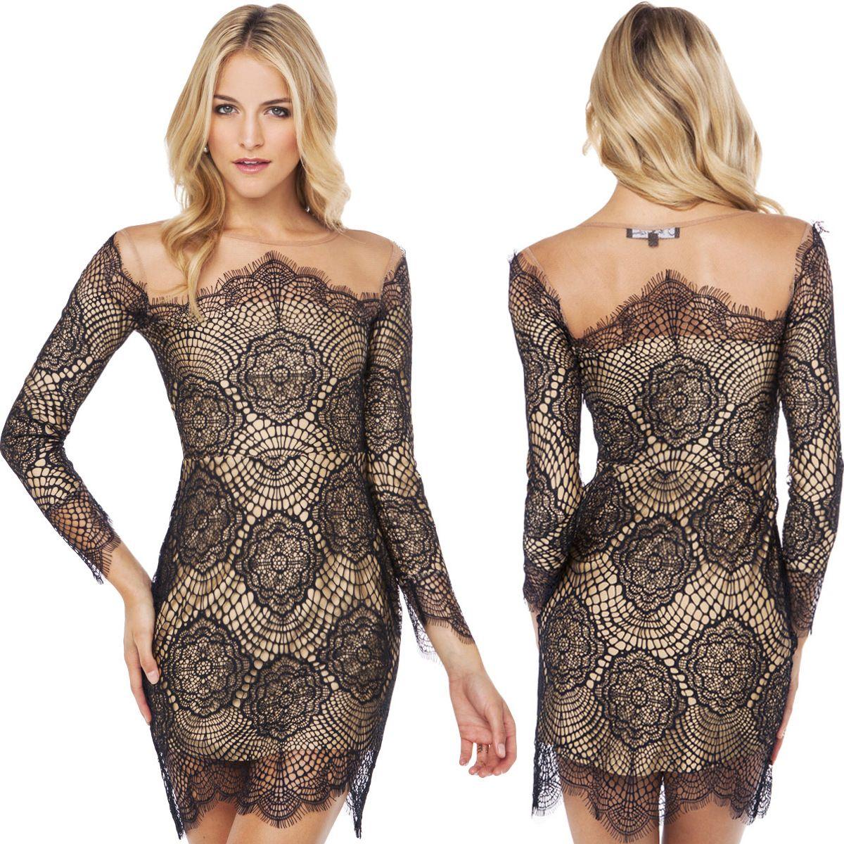 2017 New Arrival 2015 Sexy Night Dress Elegant Women Dress Lace ...