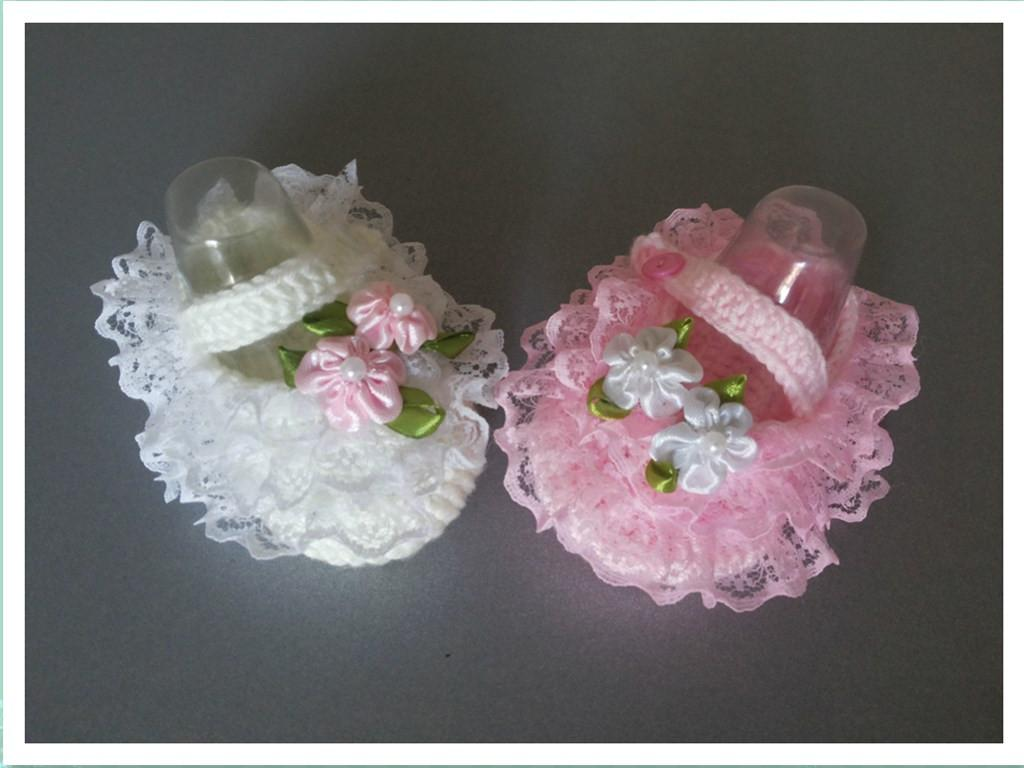 Baby Girls Cute Handmade Crochet Shoes Toddler Bootie crochet baby girl/first walker shoes flower booties cotton yarn 0-12M 16pairs/lot