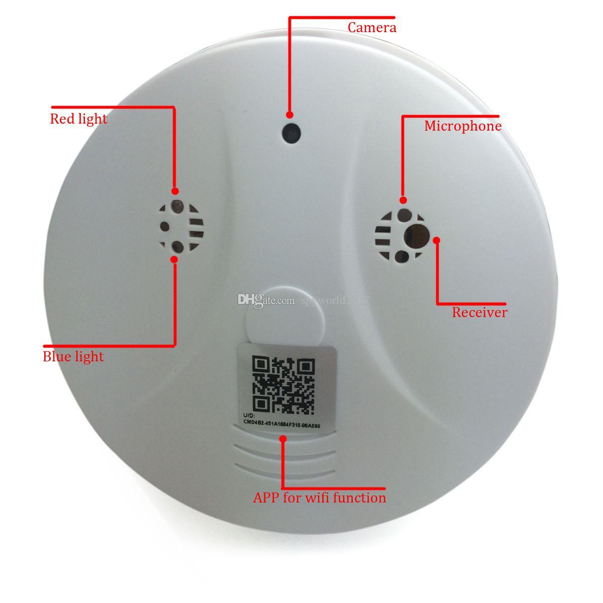2020 Wifi Ip Camera Smoke Detector 1080p Wireless Mini Cameras Hd