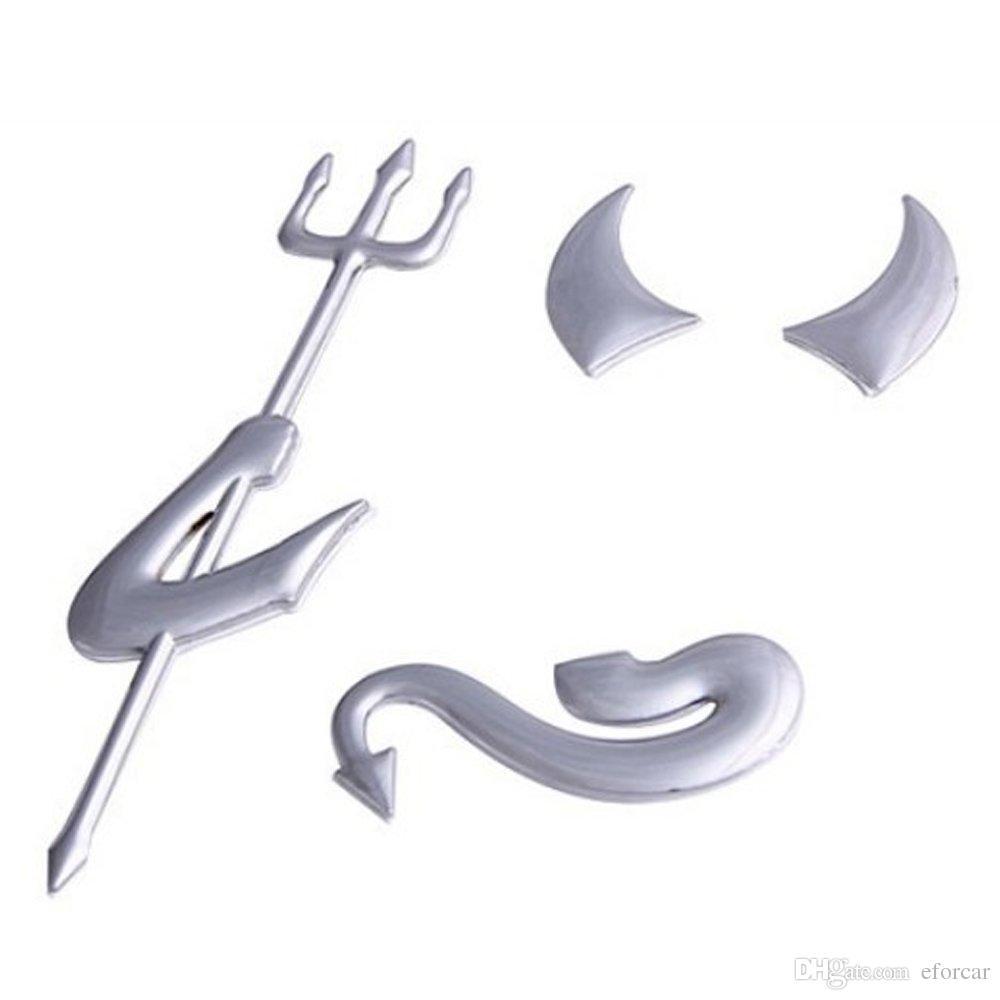 자동차 스타일링 스티커 Liitle Devil Demon 자동 차량 Emble 장식 쿨 맞춤형 PVC Paster Car Exterior Accessories 도매