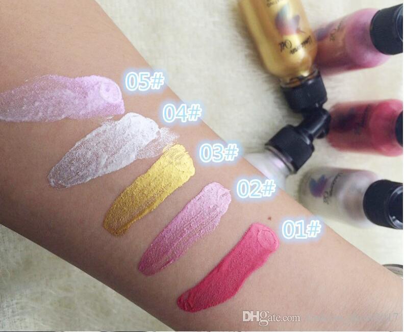 Новый Оригинальный 5 Цветов Женщины Сексуальная Красота Shimmer Жидкость Осветлить Highlighter Eye Shadow Масло с подсветкой Эликсир Свечения