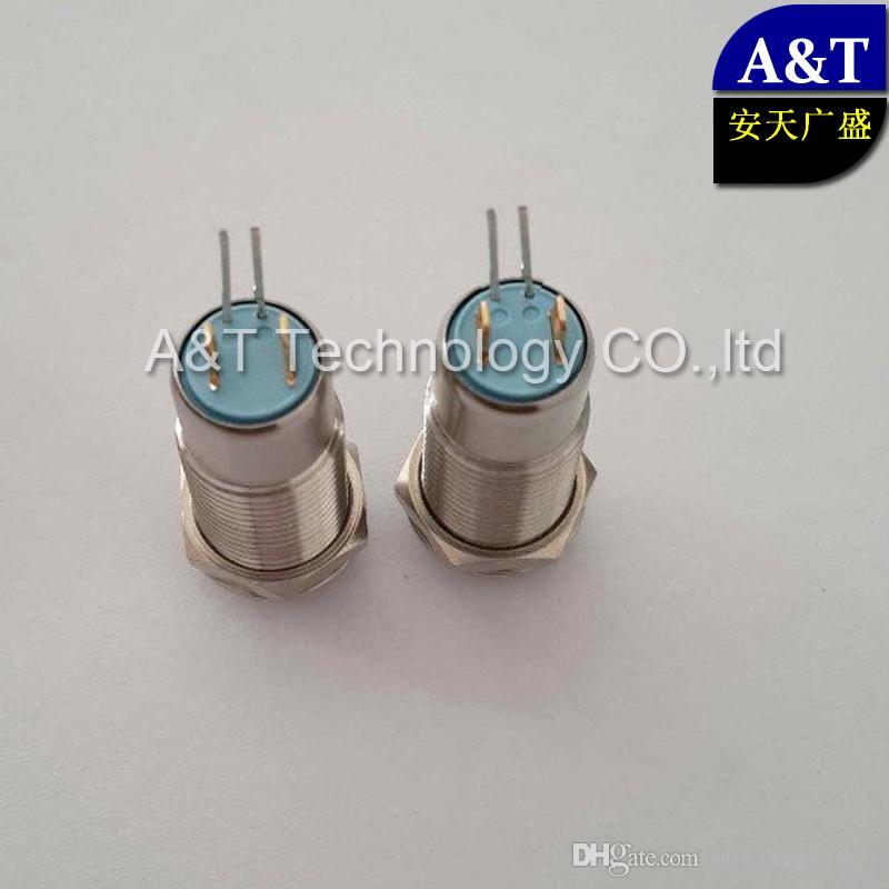 Auto Elektrische 12mm Aan Uit Miniatuur Metaal Roestvrij staal Waterdichte IP67 Anti Vandal Slatching 12 V LED Verlichte drukknopschakelaar